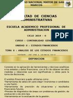 CG - Unidad II - Tema II - Análisis de Los Estados Financieros
