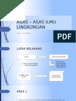 Asas – Asas Ilmu Lingkungan -Edit