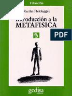 Heidegger - Introducción a La Metafísica
