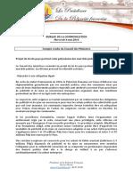 Compte Rendu - Conseil Des Ministres Du 4 Mai 2016 (2)