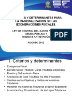 Gasto Tributario Eliminacion de Beneficios Fiscales Guatemala