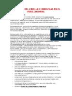 Situacion Del Criollo e Indigenas en El Peru Colonial (Autoguardado)