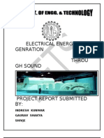 sound energy to electrical energy