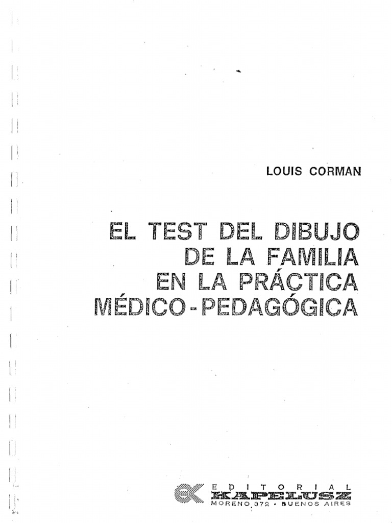 Worksheet. Louis Corman  Test Del Dibujo de La Familia