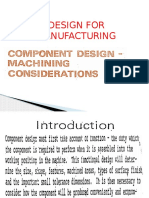 Design for Machining Ppt
