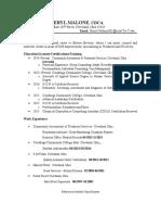 resume of sheryl malone