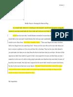 aranaportfolio  edited profile project essay - annotated copy