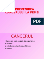 Prevenirea Cancerului La Femei