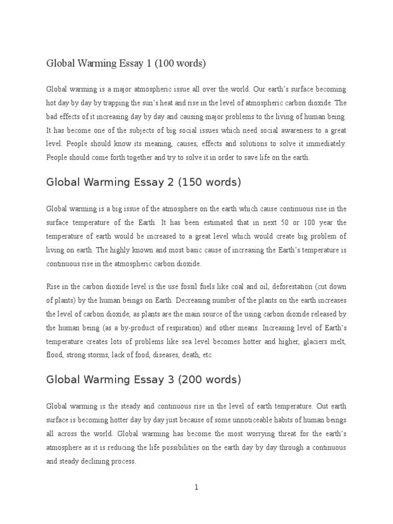 Global Warming Essay 1 | Global Warming | Atmosphere Of Earth