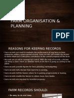 farm organsation   planning