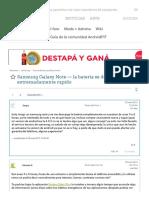 Samsung Galaxy Note — La Bateria Se Descarga Extremadamente Rapido – Foro de Android - AndroidPIT