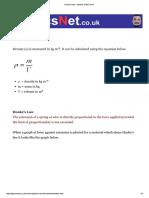 Hooke's Law – Density, Elastic Limit