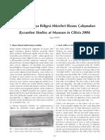 Ayse Aydin - 2006 Yili Kilikya Bolgesi Muzeleri Bizans Calismalari