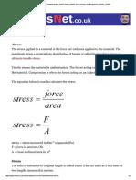 Stress & Strain – Tensile Stress, Tensi..