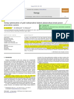 Art11 ELSEVIER Sizing Optimization of Grid Independent Hybrid Photovoltaic Wind Power Generation System Technq Iterative