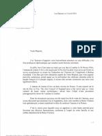 Lettre à Elisabeth II Reine d'Angleterre - Version Française[1]
