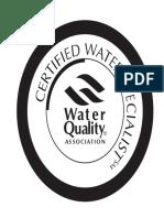 Certifield Water Specialist