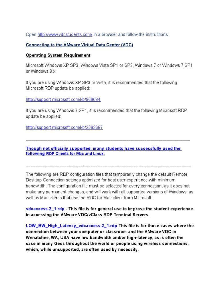 VMware VDC Test Procedure_v3 | Remote Desktop Services | Ibm