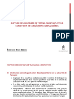 Rupture Des Contrat de Travail 25092013