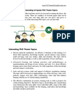 30 Most Interesting PhD Thesis Topics