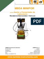 Biorreactor Fermentador de Laboratorio Resumen de Innovaciones y Ventajas