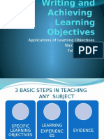 lesson planniung writing - learning objectives 22--2-12