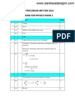 Skema Fizik Tingkatan 5 Kertas 2 Pep Percubaan SPM SBP 2011