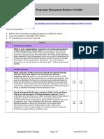 Program Handover Checklist
