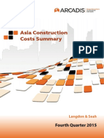 Asia Construction Costs Summary 4q2015