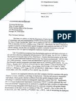 050416 DOJ Letter to McCrory HB2050412
