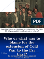 Who Was to Blame for Cold War in the Far East - General Ppt. Presentation (2)