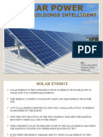 Use of solar and wind power for intelligent buildings