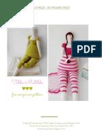 English Tilda Matilda Free Amigurumi Pattern