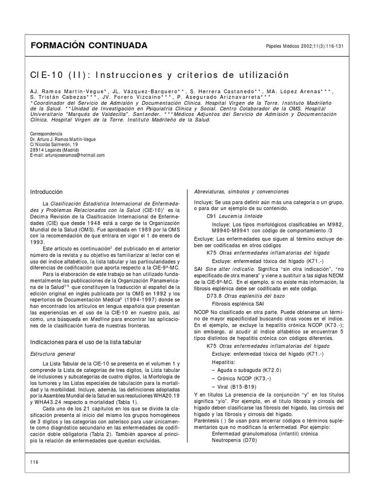 Código ICD 10 para el cáncer de próstata benigno