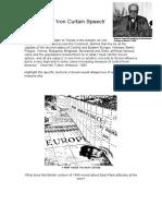 Iron Curtain - Churchill's Speech, With Tasks