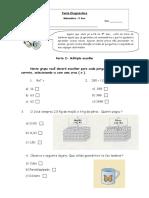 Teste Diagnostico Matematica