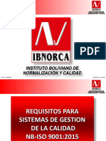 REQUISITOS SistemaGestionCalidad IBNORCA