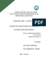 Instructivo Trabajos Planificación Estratégica AP