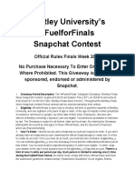 Official Rules Fuel for Finals Snapchat Contest 2016