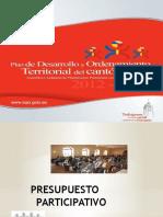 Presentación Presupuesto Participativo