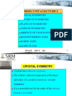 u4lecture 3(Crystal Physics)