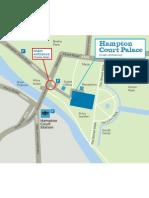 Map to Hampton Court Palace