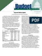 Corporate Welfare Update, Cato Tax & Budget Bulletin