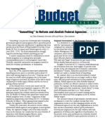 'Sunsetting' to Reform and Abolish Federal Agencies, Cato Tax & Budget Bulletin
