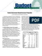 Federal Government Should Increase Firing Rate, Cato Tax & Budget Bulletin