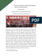 José Luis Ugarte (2016) Foro El Trabajo en El Chile de Hoy Los Blindajes Del Modelo, Los Desafíos Del Sindicalismo