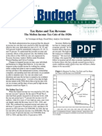 Tax Rates and Tax Revenue:The Mellon Income Tax Cuts of the 1920s, Cato Tax & Budget Bulletin