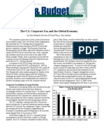 The U.S. Corporate Tax and the Global Economy, Cato Tax & Budget Bulletin