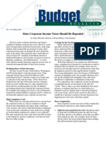 State Corporate Income Taxes Should Be Repealed, Cato Tax & Budget Bulletin