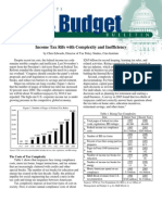 Income Tax Rife with Complexity and Inefficiency, Cato Tax & Budget Bulletin